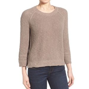 MADEWELL Coffeehouse Linen Blend Taupe Crewneck